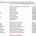 วิธีสร้างประโยค ในภาษาดัชท์-เพิ่มการใช้สี-Thai Speak Dutch
